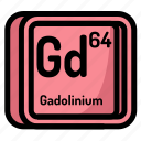 atom, atomic, chemistry, element, gadolinium, mendeleev icon