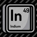 element, atomic, atom, mendeleev, chemistry, indium