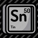 atom, atomic, chemistry, element, mendeleev, tin icon
