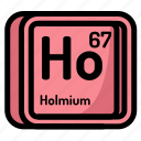 atom, atomic, chemistry, element, holmium, mendeleev icon