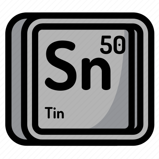 Elements of the periodic table by sergey ershov atom atomic chemistry element mendeleev tin icon urtaz Choice Image