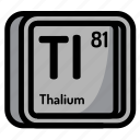 atom, atomic, chemistry, element, mendeleev, thalium icon