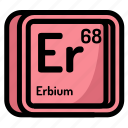 atom, atomic, chemistry, element, erbium, mendeleev icon