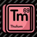 atom, atomic, chemistry, element, mendeleev, thulium icon