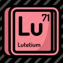 atom, atomic, chemistry, element, lutetium, mendeleev icon