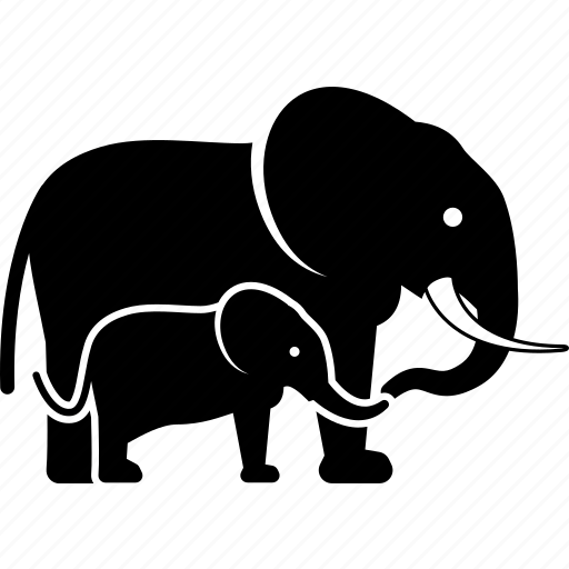 Baby, calf, elephant, mother icon - Download on Iconfinder