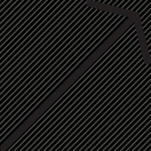 arrow, right, top icon