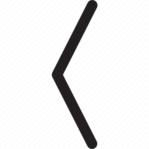 chevron, left, thick icon