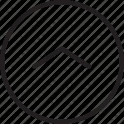 chevron, circle, up icon