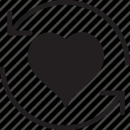 fill, heart, refresh icon