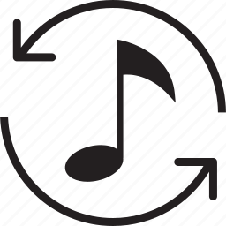 music, refresh icon