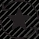 fill, refresh, star icon