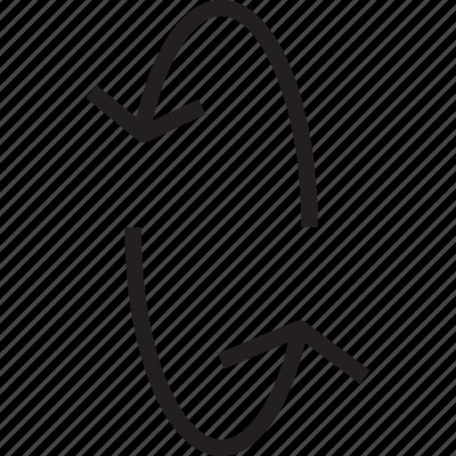 orbit, vertical icon