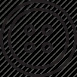 button, clothing icon