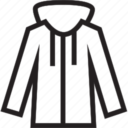 hoodie, zip icon