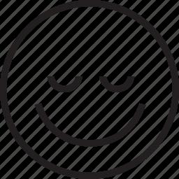 content, happy icon