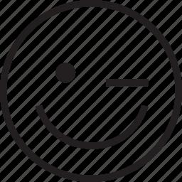 happy, wink icon