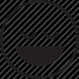 laugh, quiet icon