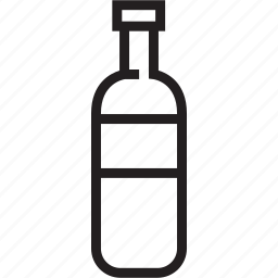bottle, wine icon
