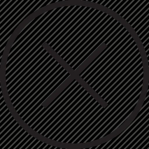circle, delete icon