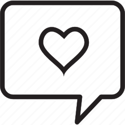 comment, heart icon