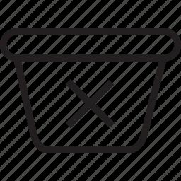 bin, delete icon