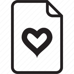 document, heart icon