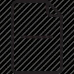 document, sub icon