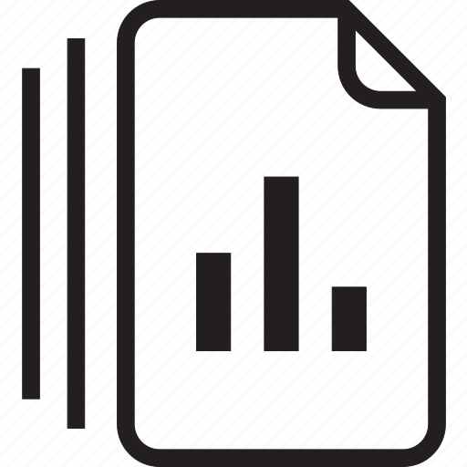 bar, documents icon