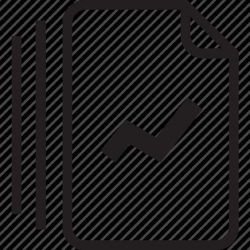 documents, line icon