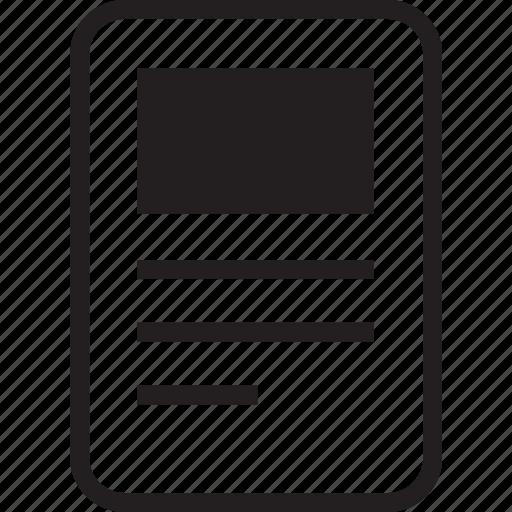 document, image, paper icon