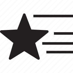 fill, shooting, star icon