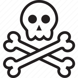 bones, skull icon