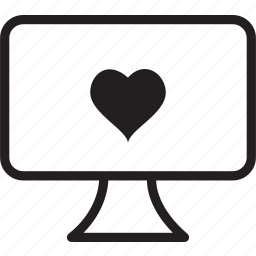 desktop, heart icon