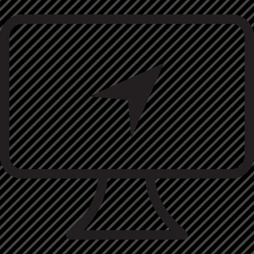desktop, location icon