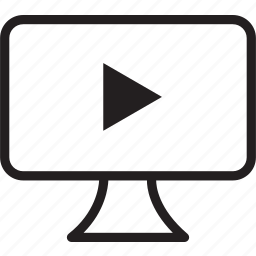 desktop, play icon