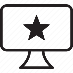 desktop, star icon