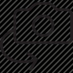 camera, flip icon
