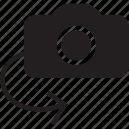 camera, fill, flip icon