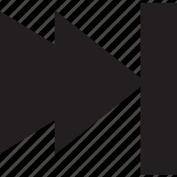 fill, forward, skip icon