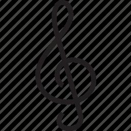 cleff, treble icon