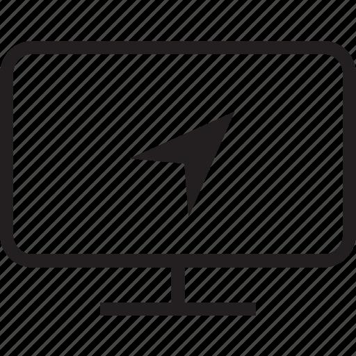 location, tv icon