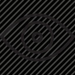 eye, visual icon