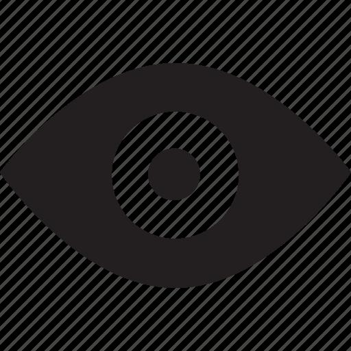 eye, fill, visual icon