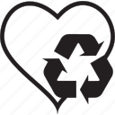 love, recycle icon