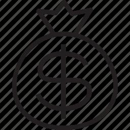 bag, cash icon