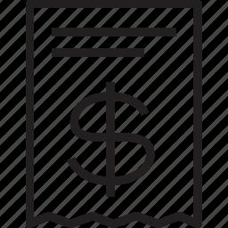reciept icon
