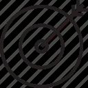 arrow, target icon