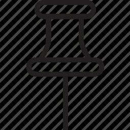 dropped, pin icon