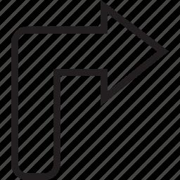 right, turn icon